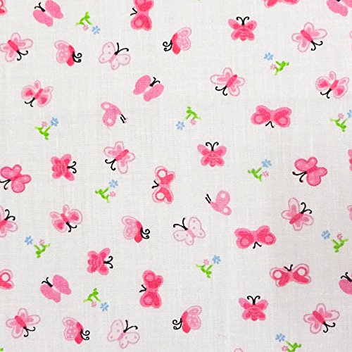Pink Mini Butterfly Poly Cotton