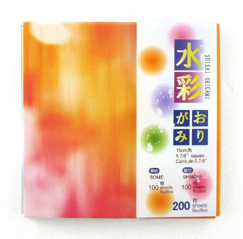 Origami Paper, Colorful Streaks designs #Ai-1933/4 by Suisai