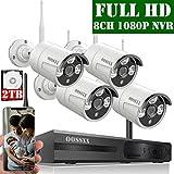 【2020 Nuovo】 Kit Sorveglianza Telecamera 8 Canali 1080P NVR Di Sorveglianza Wireless, ...