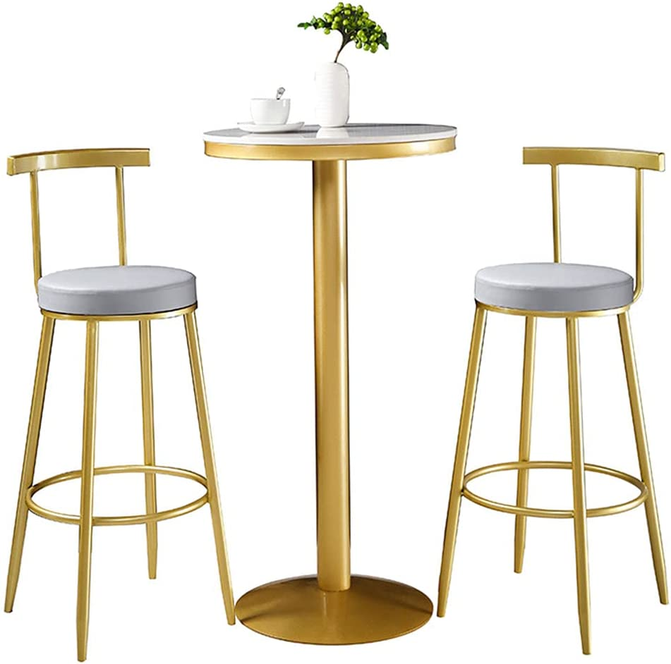 sale YERT 22-inch High-Leg Table Round Countertop Me Marble Durable Colorado Springs Mall