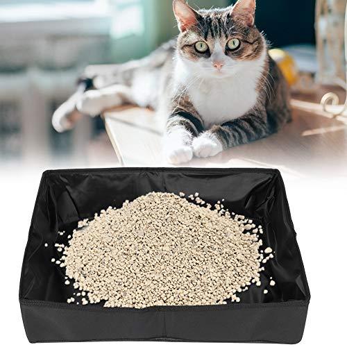 SunshineFace Portabrocas para gatos y mascotas, portátil, impermeable, plegable, para viajes, color negro, tamaño grande