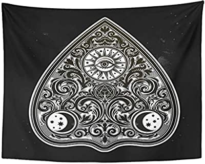 Wall Art Magic Ouija Board Oracle Boho Chic Halloween and Tattoo Wicca Witchcraft Spirituality Tapestry Wall Hanging Blanket Bedroom Dormitory Decoration Window Curtain Picnic Mat for Living Room