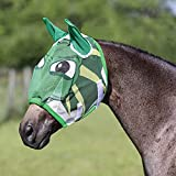 Dura-Tech Dragon Design Horse Fly Mask - Full Size | Soft Mesh Ears | Avoid Pesky Insect Bites | Fleece Covered Elastic Binding at Nose & Crown | Turnout Protection