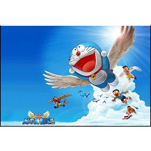 ZCXZY De Dibujos Animados Rompecabezas 1000 Piezas de Doraemon Nobita, Shizuka se Pueden Recoger los Juguetes Enviar Foto Cartel Grande (75 * 50 cm) (Color : D)