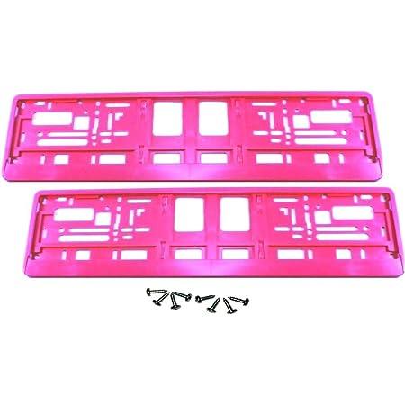 2 Kennzeichenhalter Pink Nummernschildhalter Kennzeichenhalterung Neu Ovp Auto