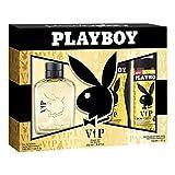 Playboy VIP para hombres- Set de Agua de Colonia 100 ml , Desodorante 150 ml y Gel de Ducha - 250ml