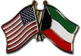 ALBATROS USA American Kuwait Flag Bike Motorcycle Hat Cap Lapel Pin for Home and Parades, Official Party, All Weather Indoors Outdoors