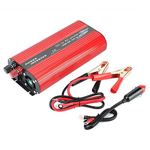 Inversor de corriente energia movil USB Convertidor portátil Transformador Accesorio Corrección Reemplazo para electrodomésticos Rojo