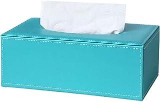 Skórzany uchwyt na skrzynkę do tkanki prostokątnej kwadrat, dozownik pokrywy skrzynki na tkankę, pojemnik na przechowywani...