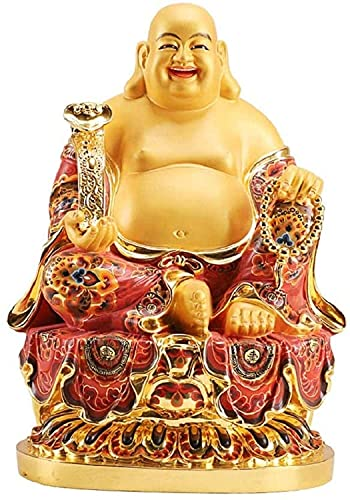 Home Decoration Statue Buddha Laughing Buddha Maitreya Painted Chinese Ornaments Statue Big Belly Buddha Happiness Peace Decoration Good Luck Wealth 506