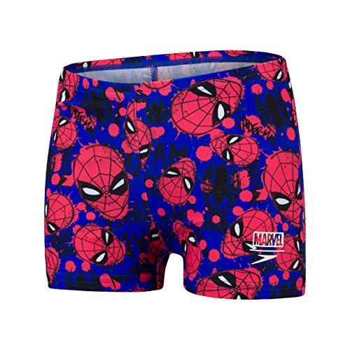 Speedo Spider-Man Digital Allover Aquashort Bañador, Niños, Beautiful Blue/Lava...
