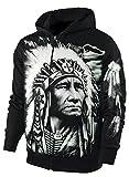 Sweatshirt Jacke / Hoody Kapuzenjacke Indianer Größe XXL