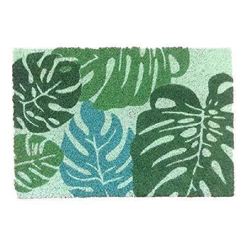 DCASA Felpudo Antideslizante Hojas Tropicales Referencia DC Textiles del hogar Unisex Adulto, Color, 40x70x1,5