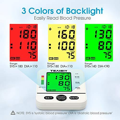 51kzz3SMDtL - Tensiómetro de Brazo Digital con Pantalla LCD, Automática de Presión Arterial y Pulso de Fuencia Cardíaca Detección, 22-40 cm Brazalete, Memorias de 2 Usuario (2 * 99)