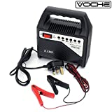 Voche 6V & 12V 8 Amp Compact Car, Motorcycle & Lawnmower Battery Fast Charger