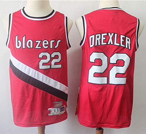 NBA Basketbalshirt Portland Trail Blazers 0# Clyde Drexler basketbalmouw heren tricot ademend mode basketbal vest