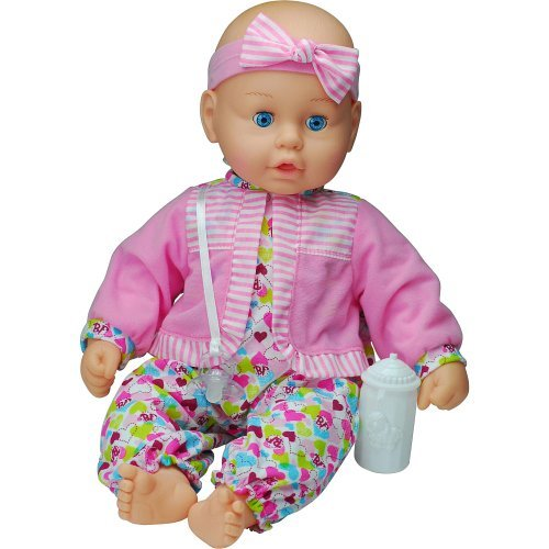 GOLDBERGER AIR BABY UNBELIEVABLE SOFT 19 inch BABY DOLL WITH SPECIAL AIR PILLOWS FOR BABY LIKE SOFTNESS - PINK AND BLUE PLAID- DIFFERENT DESIGNS SENT AT RANDOM by Goldberger Doll Mfg. Co.