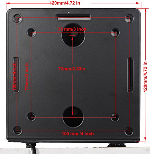 Videosecu Adjustable Small Device Wall-Mounted Bracket for Cable Box Digital TV Media Players Game Consoles MTC02B 1QJ