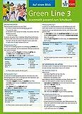 Green Line 3 - Auf einen Blick: Grammatik passend zum Schulbuch - Klappkarte (6 Seiten) - Sabine Schlimm