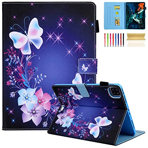 Dteck iPad Air 4 Case, iPad Pro 11 Case 2020/2018, Multi-Angle Viewing Stand PU Folio Protection Case with Auto Sleep/Wake for iPad Pro 11 2020/2018 2nd 1st Gen, iPad Air 4 10.9 2020, Fairy Butterfly