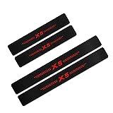 KYLN 4 Pieza Umbral Puerta Fibra Carbono, para BMW X5 F15 E70 E53 G05 Accesorios Decorativos Antirrayas Antideslizante Tira Protección