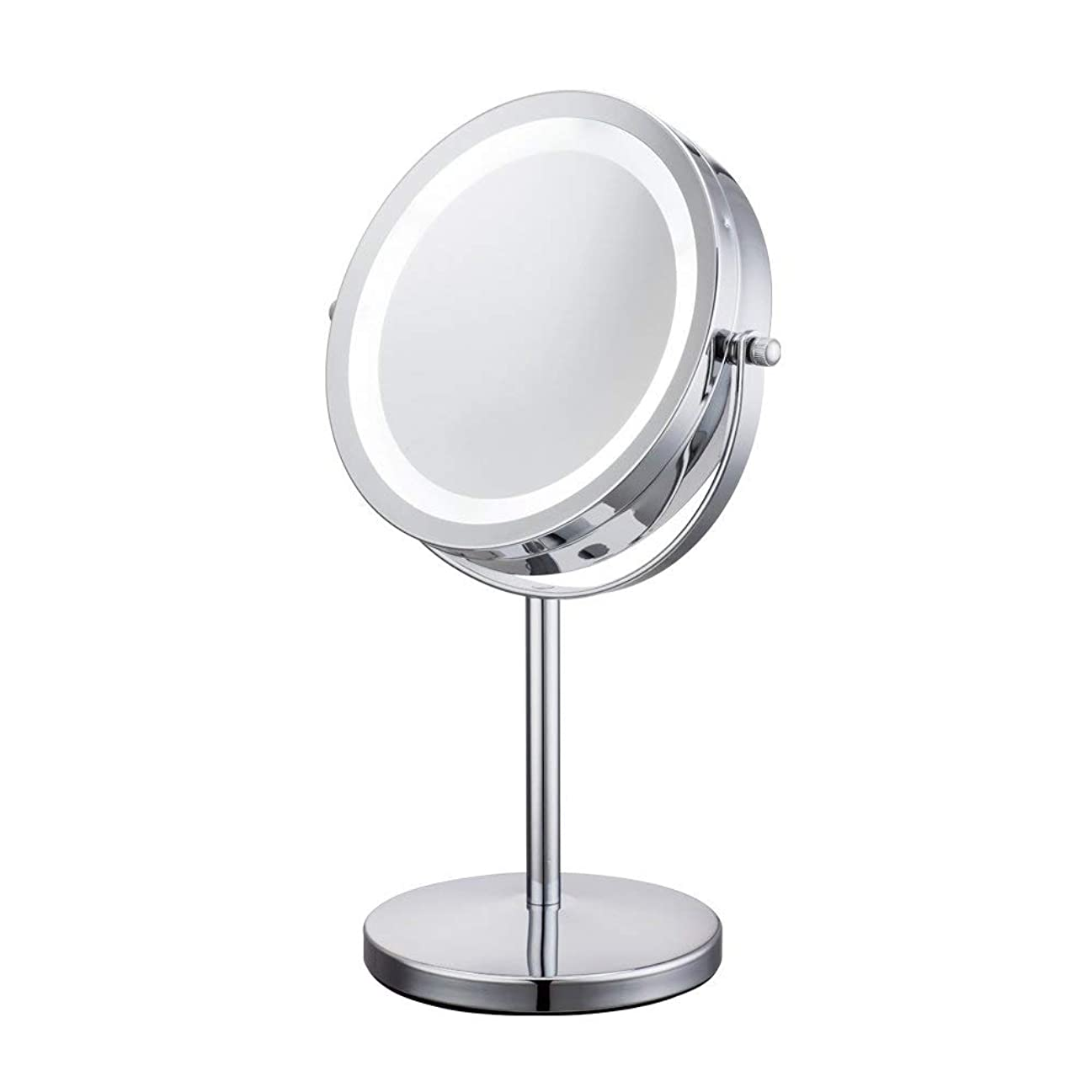 緩やかな前者夕方YBJPshop 10X LEDの虚栄心ミラーライトが付いている7インチの化粧品のテーブルミラー 美容鏡化粧室バスルーム