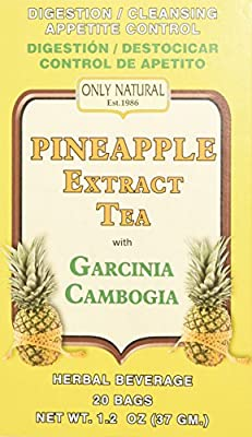 Only Natural Tea Pineapple Extract, Garcinia Cambogia Tea Bags, 20 Count from ONLY NATURAL