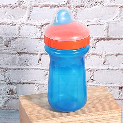Botella de agua para niños, pico de silicona suave para adultos, niños y niños pequeños para viajes y actividades al aire libre