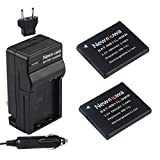 Newmowa NB-11L/NB-11LH Replacement Battery (2-Pack) and Charger Kit for Canon NB-11L/NB-11LH and Canon PowerShot A2300 IS, A2400 IS, A2500, A2600, A3400 IS, A3500 IS, A4000 IS, ELPH 110 HS,ELPH 115 HS