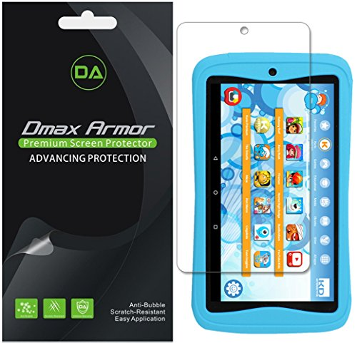 Dmax Armor [3-Pack] for Kurio Next 7 inch Kids Tablet Screen Protector, Anti-Bubble High Definition Clear Shield