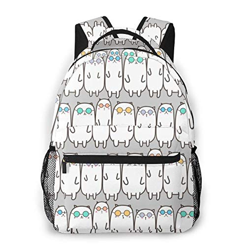 Lawenp Fashion Unisex Backpack Cool Cats Bookbag Lightweight Laptop Bag for School Travel Outdoor Camping