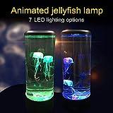 Generichaoge, 7 couleurs changeantes LED lampe de méduses aquarium chevet veilleuse décoratif atmosphère romantique USB charge cadeau créatif