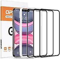 opamoo Verre Trempé pour iphone 11, [Lot de 3]Protection écran iPhone XR avec Cadre d'Alignement [Couverture Complète]9H...