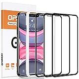 opamoo Verre Trempé pour iphone 11, [Lot de 3]Protection écran iPhone XR avec Cadre d'Alignement...
