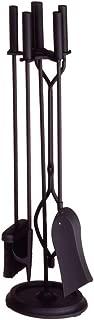 Minuteman International Neoclassic 5-piece Fireplace Tool Set, Black, Round Base