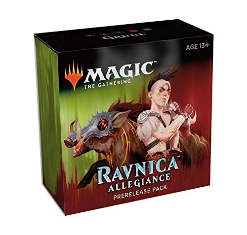 Magic The Gathering: Ravnica Allegiance Prerelease Pack Gruul (Pre-Pelease Promo + 6 Boosters + d20 Spindown Counter) Kit