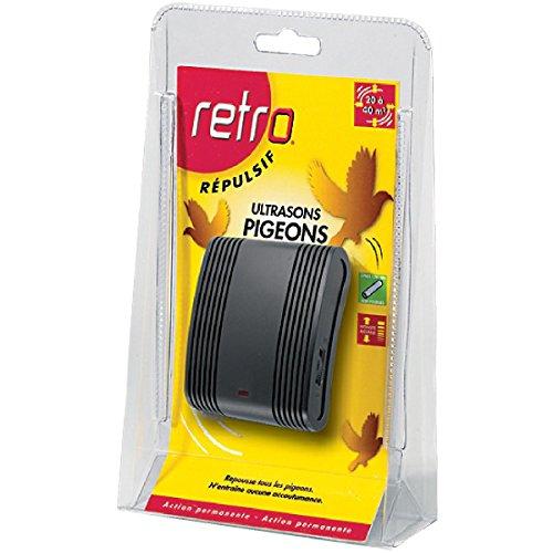 Retro RUSP1 RÉPULSIF Pigeons SONORE, Rouge,Jaune