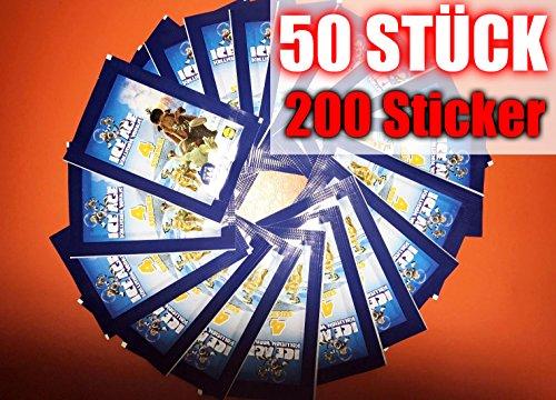 Unbekannt 200 Sticker 50 Päkchen Ice Age 5 LIDL 2016 Neu & OVP incl. WIZUALS Sticker