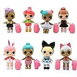 REYOKG Surprise Girl Doll Cake Topper Pastel Decoración Suministros 8Pcs Surprise Doll Figures Toy LOL Juguetes Muñeca Hecha a Mano Muñeca Decoración para niños Animales Juguetes Set