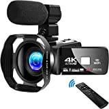 Video Camera Camcorder 4K Digital YouTube Vlogging Camera,48M 16X Digital Zoom Camcorder 3
