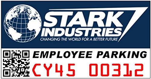 Stark Industries Employee Parking Window Cling Parking Decal