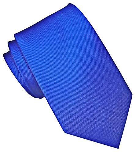 JOSVIL Corbata Pala Estrecha Seda Azul Electrico. Corbatas de seda para hombre. Corbata masculina.