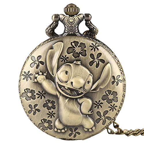FMGFGFMG Gran Reloj de Bolsillo,Personaje Lindo en la animación Interestelar bebé,Reloj de Bolsillo de Regalo,Adecuado for Todo Tipo de Personas