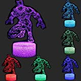 TEBOCR Super Hero 3D Illusion Night Light 7 Color Change Decor Lamp Desk Table Light for Kids Children