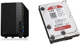 【NASキット】Synology DiskStation DS218 [2ベイ /  クアッドコアCPU搭載 / 2GBメモリ搭載] 多用途なスタンダードモデル & Western Digital HDD 内蔵ハードディスク 3.5インチ 3TB WD Red NAS用 WD30EFRX 5400rpm 3年保証