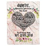 Personalized Name to My Special Aunt I Love You Sherpa Fleece Throw Blanket Tapestry Queen Full Twin Size Birthday Wedding Anniversary Auntie Presents from Nieces Nephews