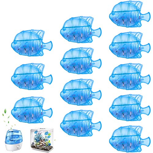 Humidifier Cleaner, 12 Pack Universal Fish Humidifier Tank Cleaning Cartridge, Warm & Cool Mist Humidifiers Filter Replacement, Small and Big Fish Tank Cleaner, Purifies Water, Cleaner Air, Adorable