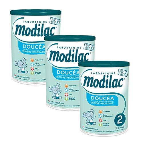 Laboratoire Modilac - Lait Infantile en Poudre Doucéa 2ème âge - 6-12 mois - 820g - Lot de 3