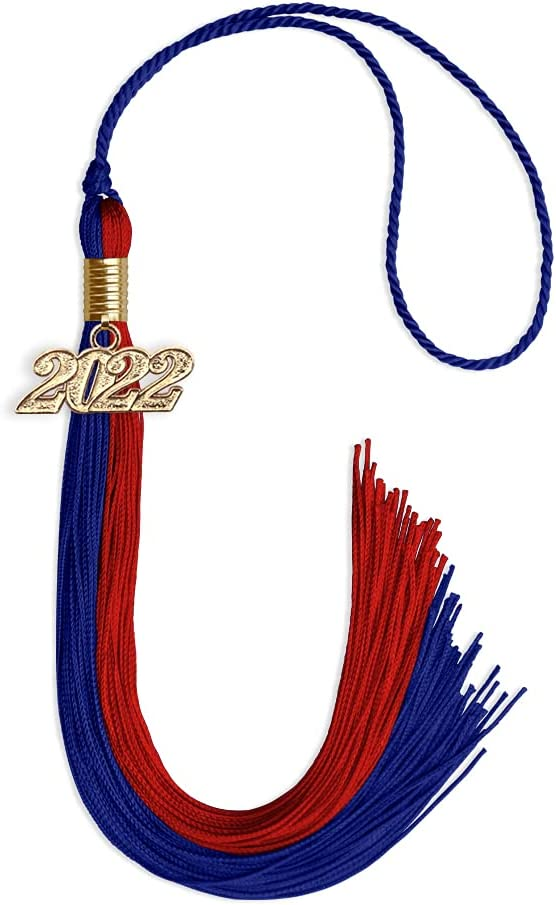 Endea Bombing new work Graduation Double Color Tassel Drop Gold Complete Free Shipping with Royal Date
