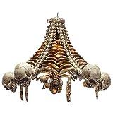 Pacific Giftware Creeping Down Skeleton Grimm Reaper Chandelier Light Pendant Resin Home Decor